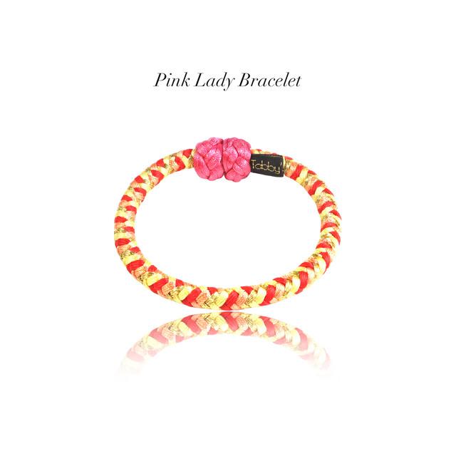 【アクセサリ】Pink Lady 組紐ブレスレット