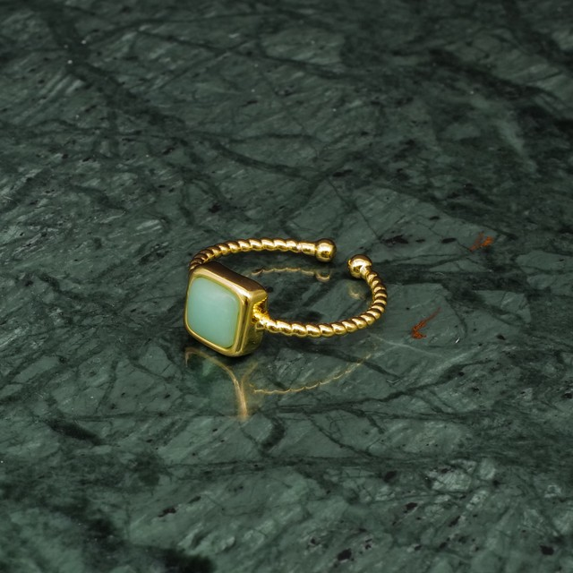 SINGLE MINI STONE RING GOLD 032