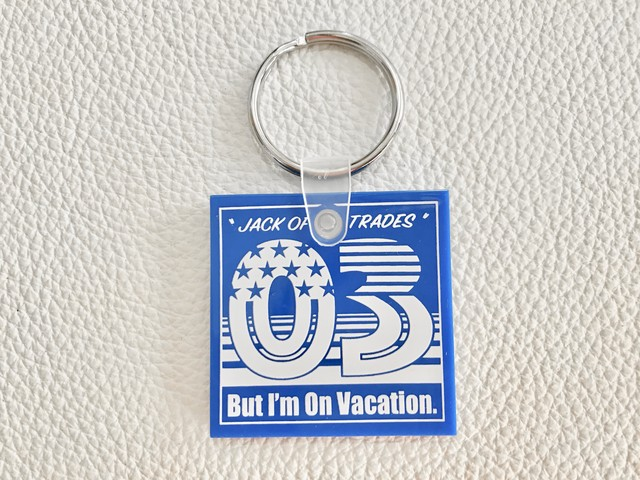 万屋MARUオリジナル QUIKEY KEY TAG (BLUE/WHITE)