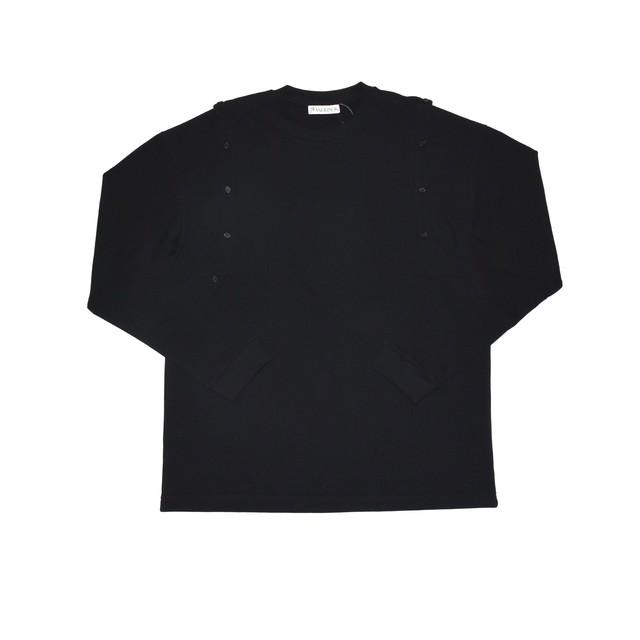 J.W.ANDERSON Shoulder Placket Long Sleeve T-Shirt