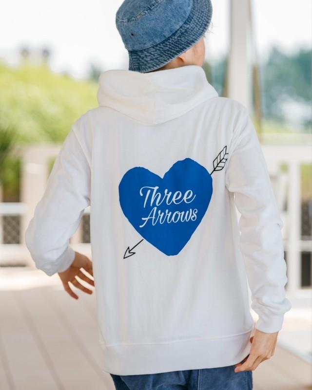 ThreeArrows Heart Logo Hoodie (blue)