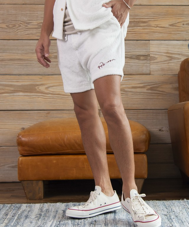 LOGO LONG PILE SHORTS[REP050]