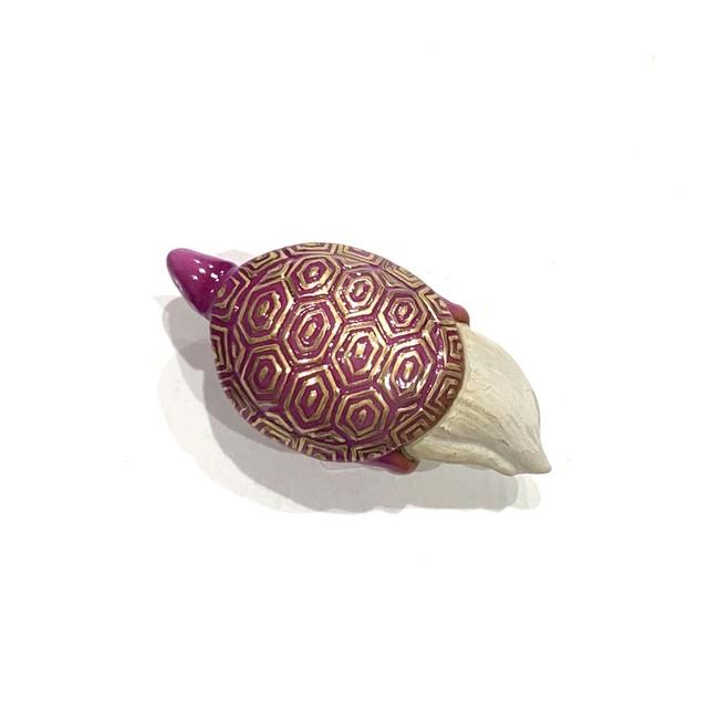 亀 小紫  帯留