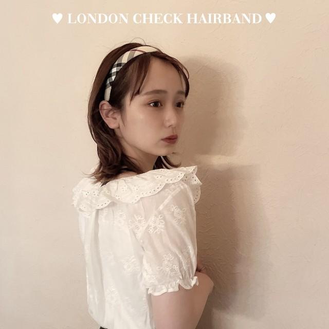 【meltie】london check hair band