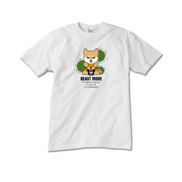 【BEASTMODE】ケトルベル 柴犬 Tシャツ メンズ
