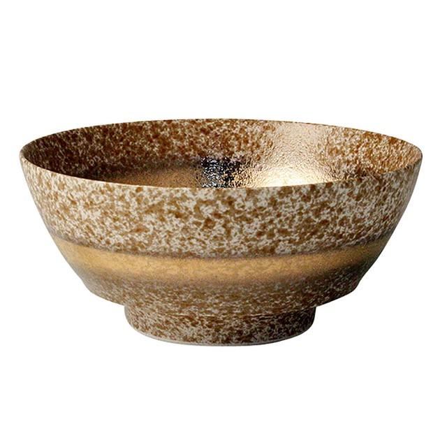 まるぶん 有田焼 陶悦窯 究極の ラーメン鉢 茶吹金帯 R0145