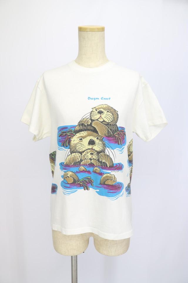 print design t-shirt / WHT