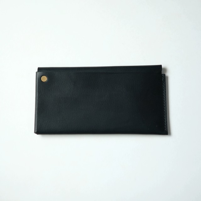 square long wallet - bk - elb