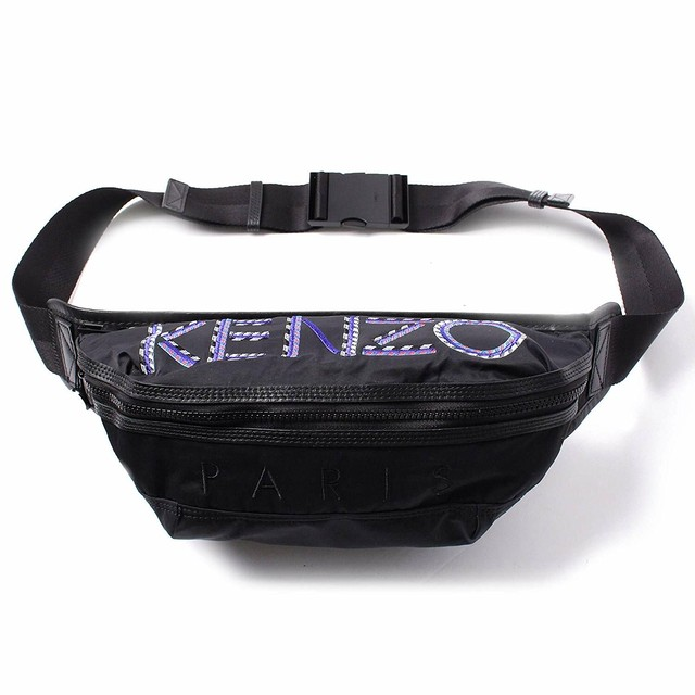 Kenzo (ケンゾー) BUMBAG バムバッグ ボディバッグ ウエストポーチ 5SF212 F26 99 ロゴ 刺繍[全国送料無料] r014859