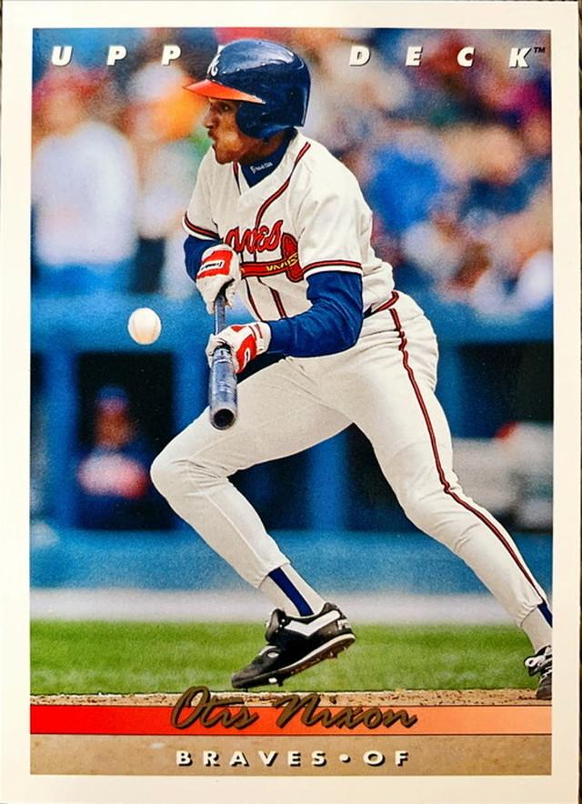 MLBカード 93UPPERDECK Otis Nixon #292 BRAVES
