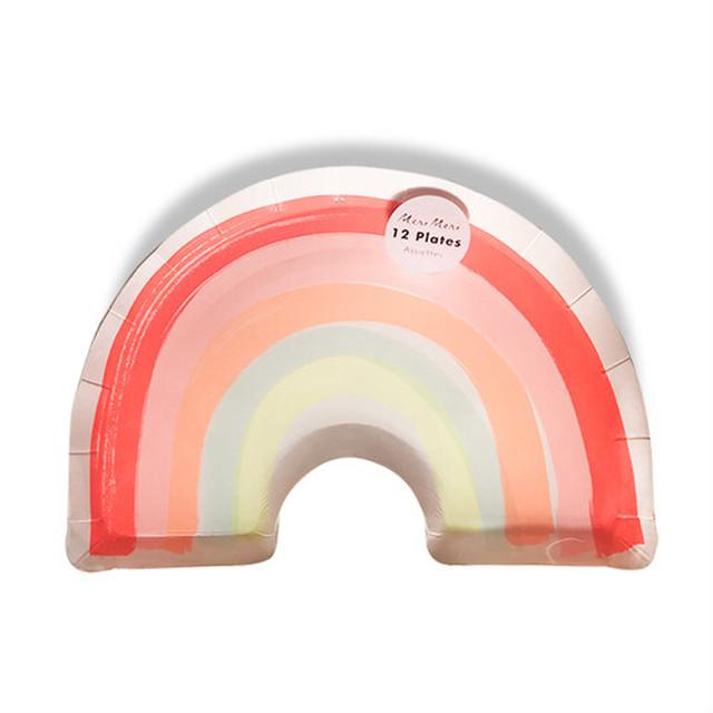 meri meri - paper plate / ペーパープレート ( RAINBOW ) 12枚入り