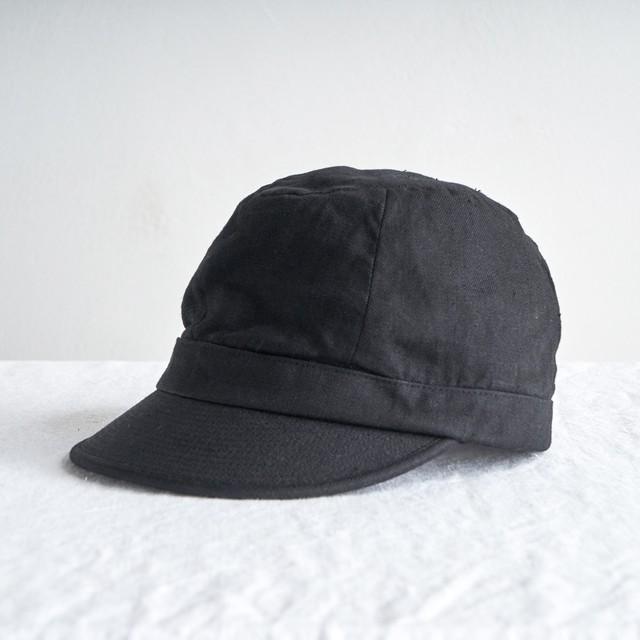 Nine Tailor  ナインテーラー  Opuntia Cap  リネンワークキャップ Black  N-620