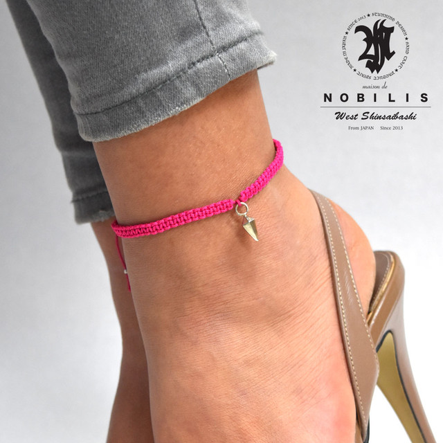 【メール便送料無料】Crystal Anklet Pink【品番 16S2018】