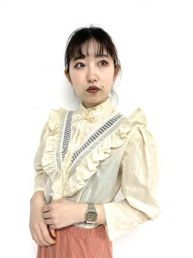 frill piping blouse/2SSTP21-07
