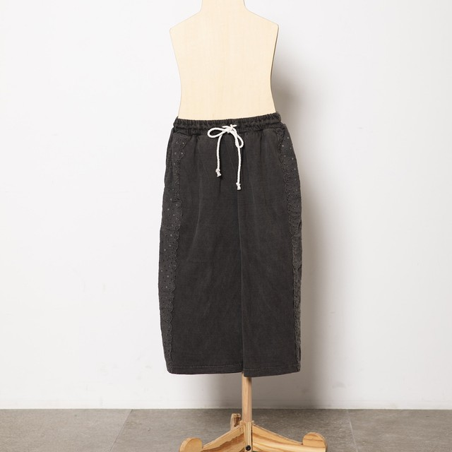 folk made 大人サイズ peacedye lace pants (black) Fサイズ F21SS-028