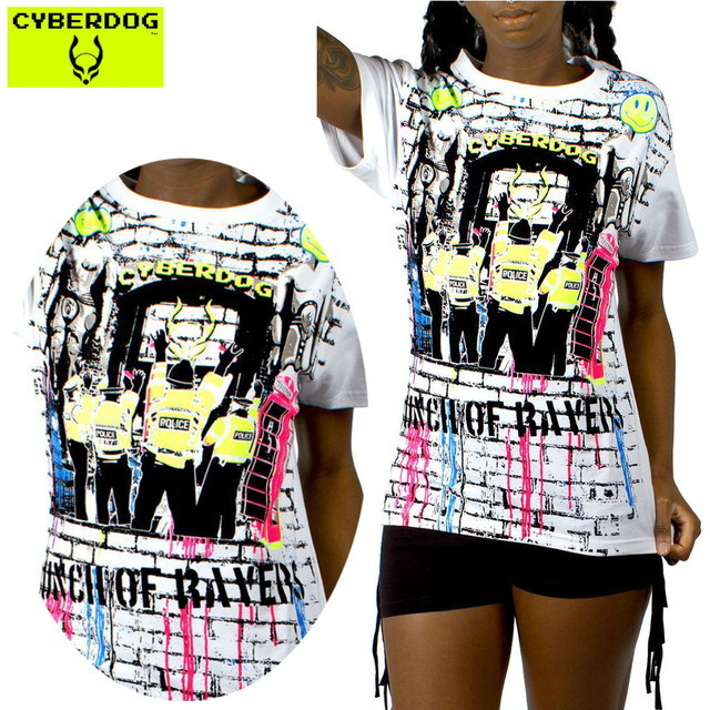 【CYBERDOG/サイバードッグ】GIRLS EASY TEE BUNCH OF RAVERS