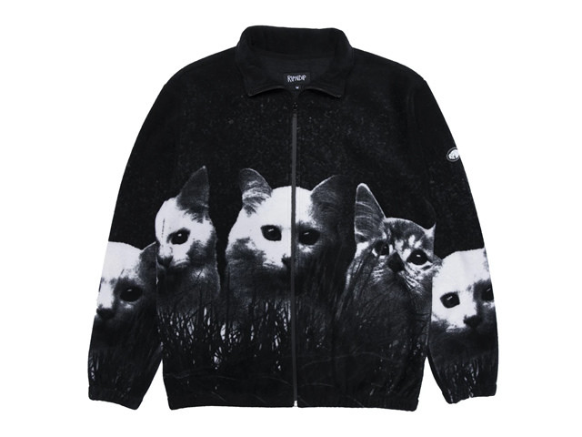 RIPNDIP|Field Of Cats Sherpa Jacket (Black)