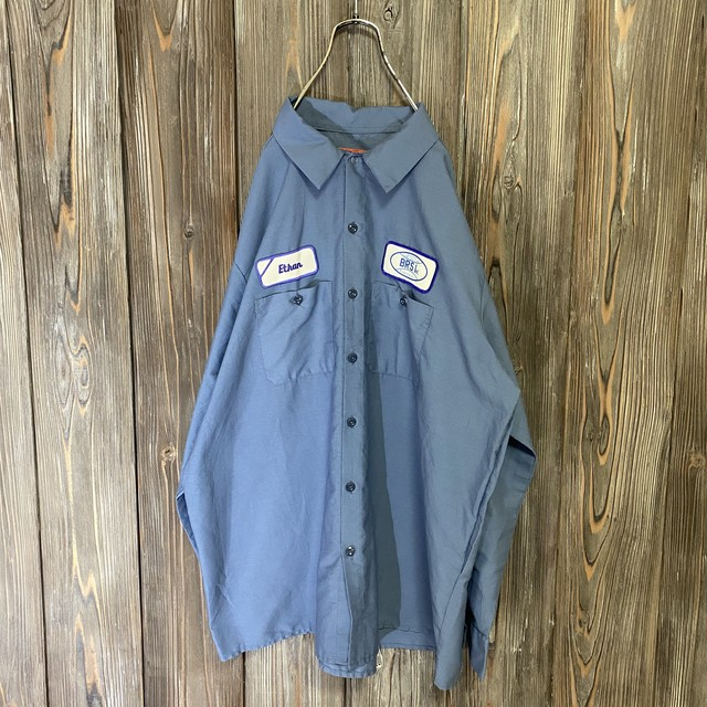 [used]BRSI dark blue work shirt