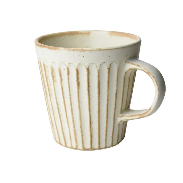 益子焼 つかもと窯 「 SHINOGI 」 マグカップ ホワイト TS-11