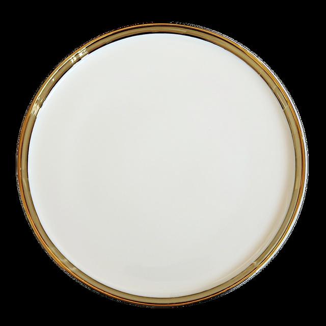 Gold line plate / ゴールド ライン プレート