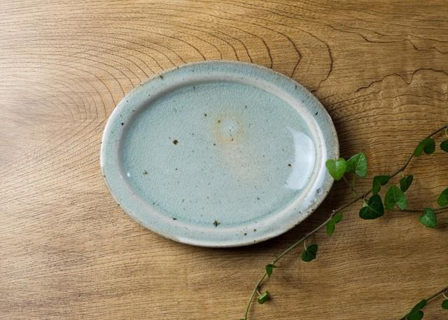 灰釉粉引 オーバル中皿 3/くるり窯