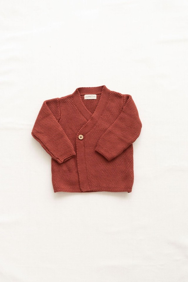 FIN&VINCE/knitted wrap cardigan - gingerbread