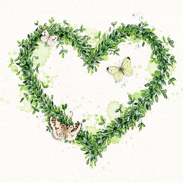 まもなく発売|2020春夏【Atelier】バラ売り2枚 ランチサイズ ペーパーナプキン GREEN DREAM ホワイト