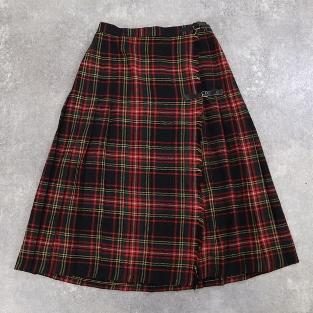 plaid design retro skirt