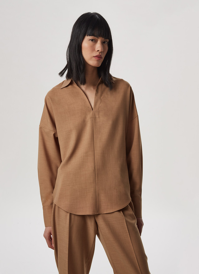 OVERSIZE SHIRT WITH PUFF SLEEVES