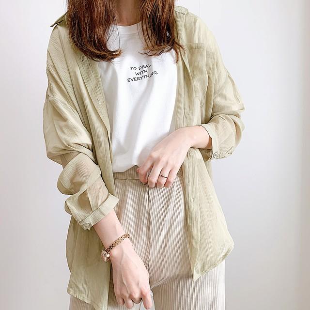 【即納】シンプルゆるTシャツ/TO DEAL WITH EVERYTHINGデザインz