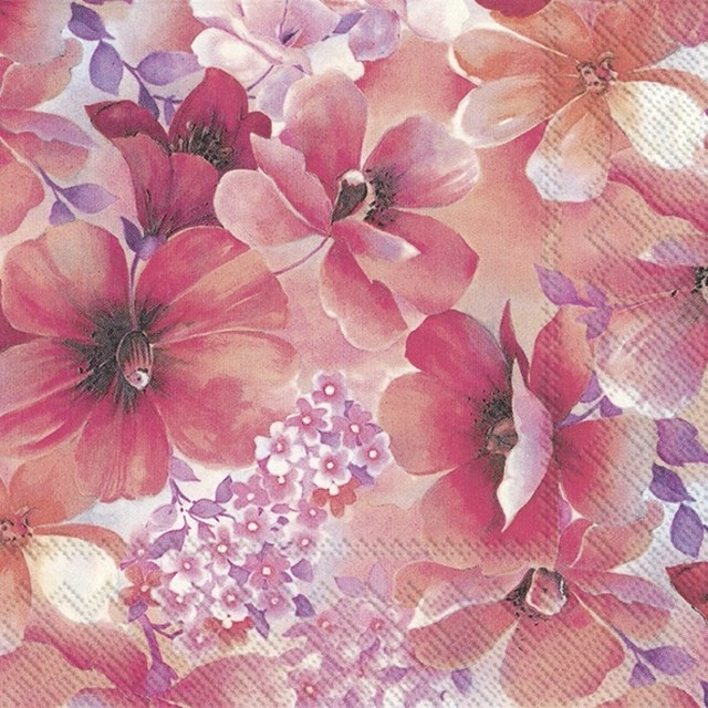 2021春夏【IHR】バラ売り2枚 ランチサイズ ペーパーナプキン PRISSY ピンク