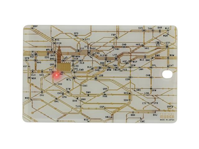 FLASH London回路線図 ICカードケース  白【名入れ無料サービス実施中】
