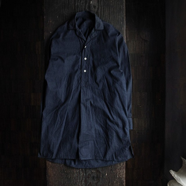 Euro cotton grandpa shirt navy