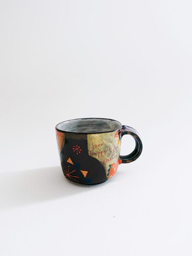 ウエダキヨアキ 黒土カラフルマグカップ 41