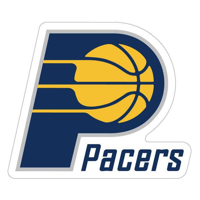 """244 Indiana Pacers """"California Market Center"""" アメリカンステッカー スーツケース シール"""