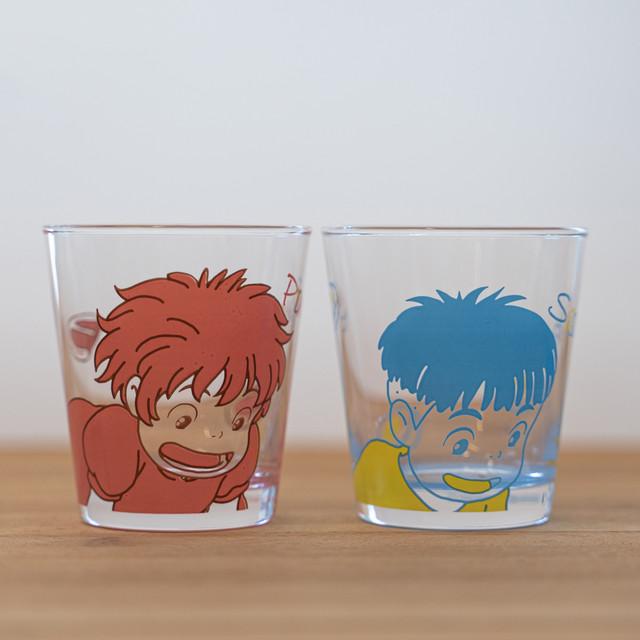 崖の上のポニョ 絆-なかよしペアグラス(Ponyo & Sousuke / 3047)