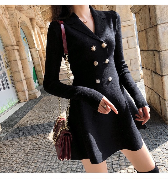 Double style one-piece dress73