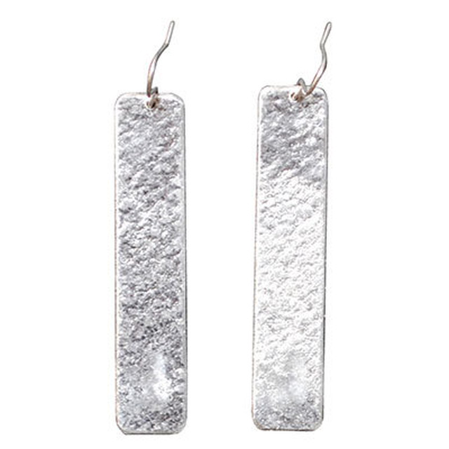 【全国送料無料】TIN BREATH Pierced earring H 10×50mm Silver