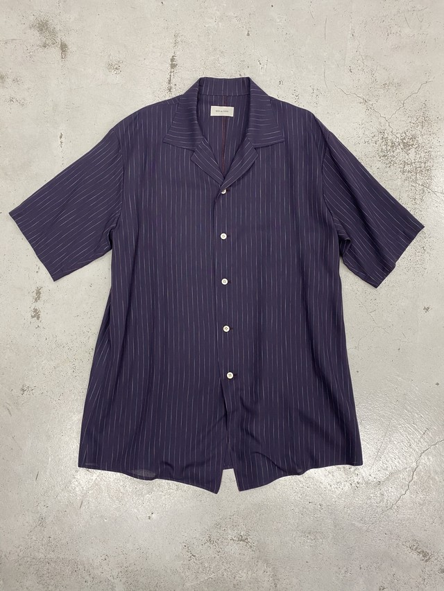 BED J.W. FORD /  stripe half sleeve Shirt(Purple)