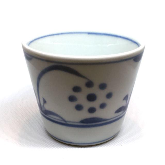 【砥部焼/梅山窯】蕎麦猪口(三つ紋)