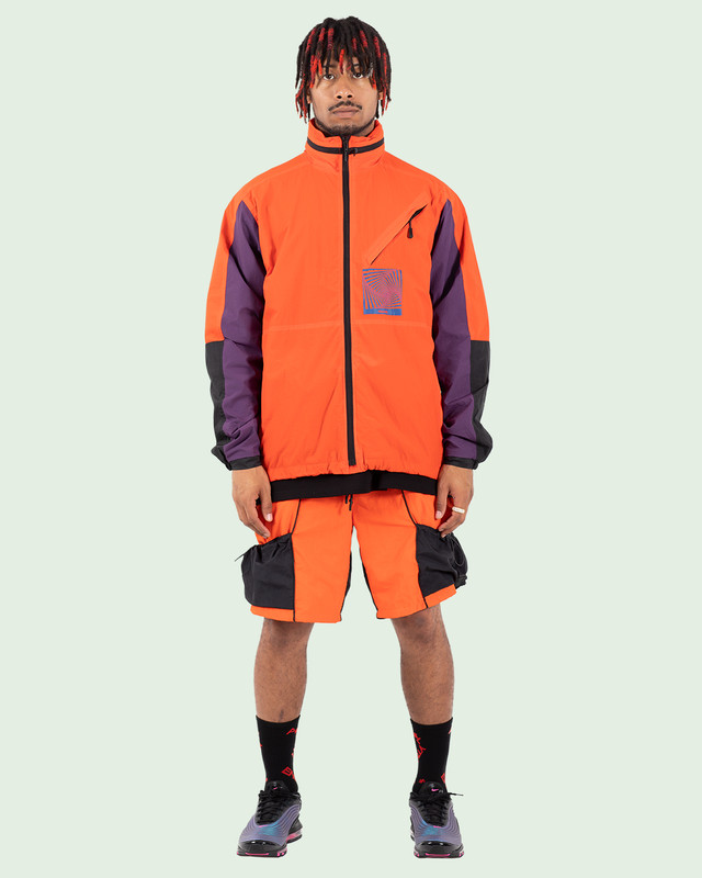 TCR-TEX SHELL JACKET - ORANGE/BLACK/PURPLE