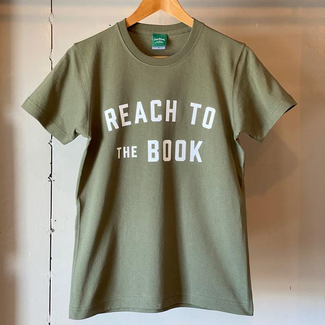 ヘビーウェイトTシャツ / REACH TO THE BOOK / Light Olive