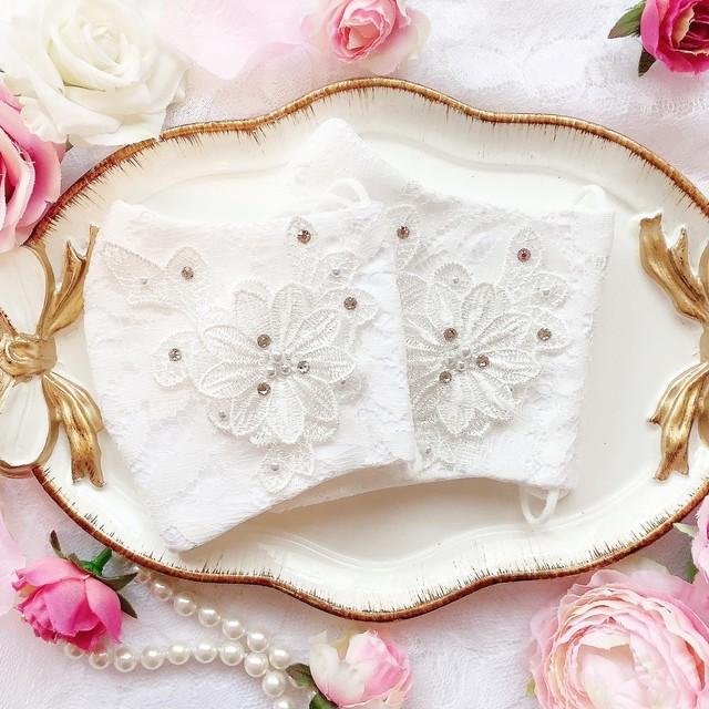 【10/18(日)21時より出品/予約販売】手作りドレスマスク(大きめサイズ)