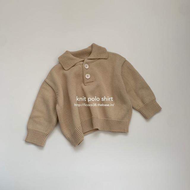 524. knit polo shirt