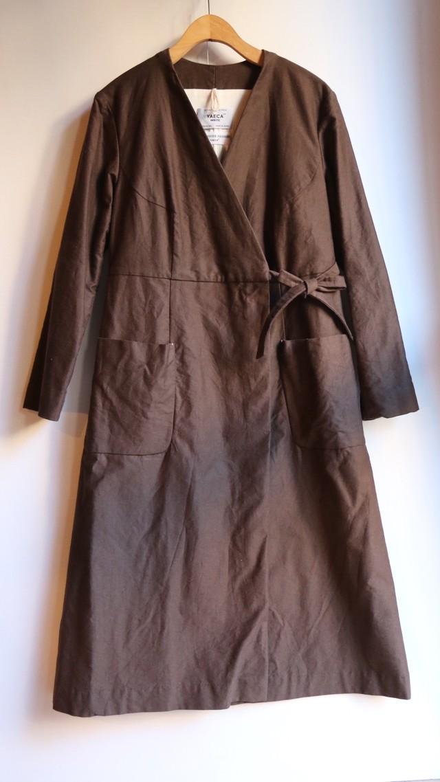 YAECA/ヤエカ 丸胴クルーネックTシャツ BROWN#89013 レディース