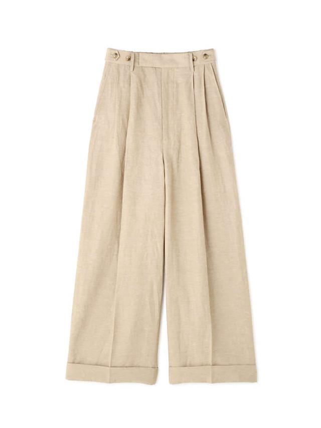 Linen wide pants Beige / Luxluft
