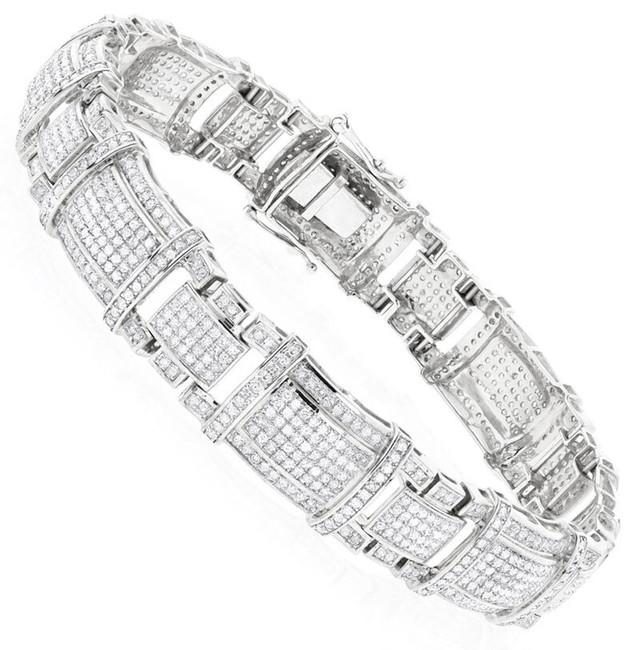 10K WHITE GOLD REAL DIAMOND BRACELET  4CT