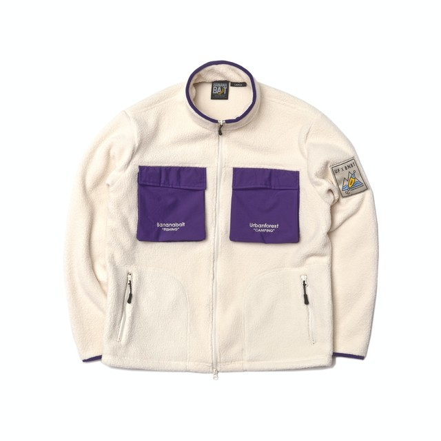 【Banana Bait】UF X BNBT Fleece JKT / Cream