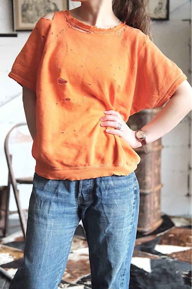 Vintage orange damage sweat