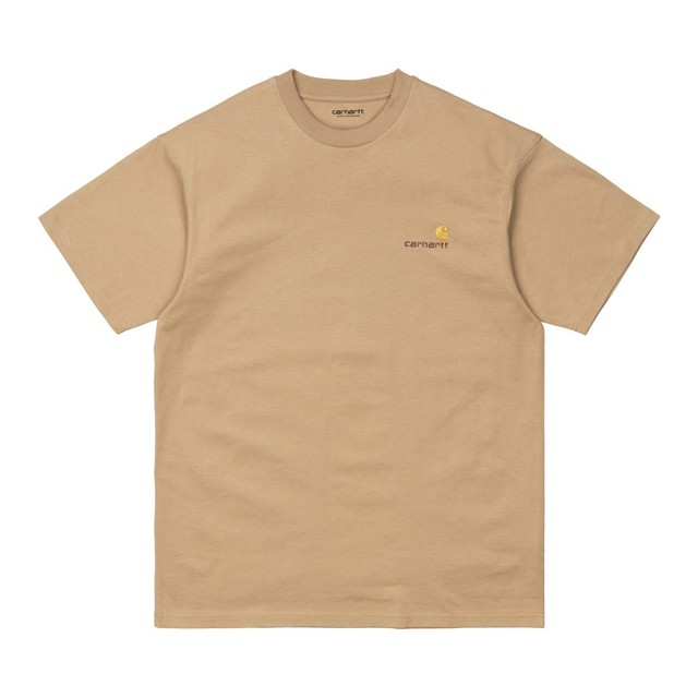 Carhartt (カーハート) S/S AMERICAN SCRIPT T-SHIRT - Dusty H Brown
